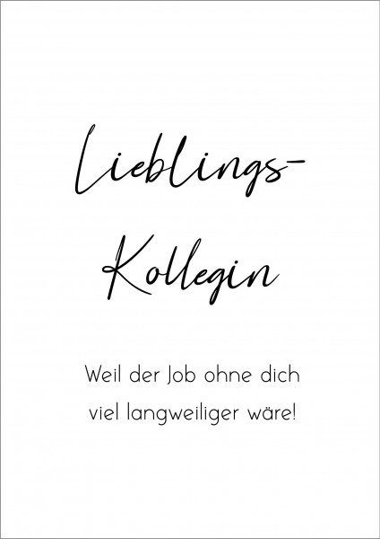 Poster Plakat Kollegin Freundin