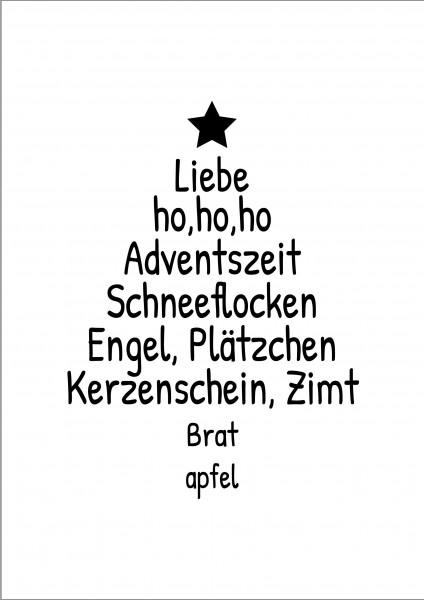 Tannenbaum Adventszeit Deko Poster Plakat