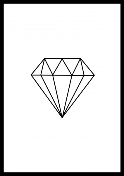Poster Plakat Diamant