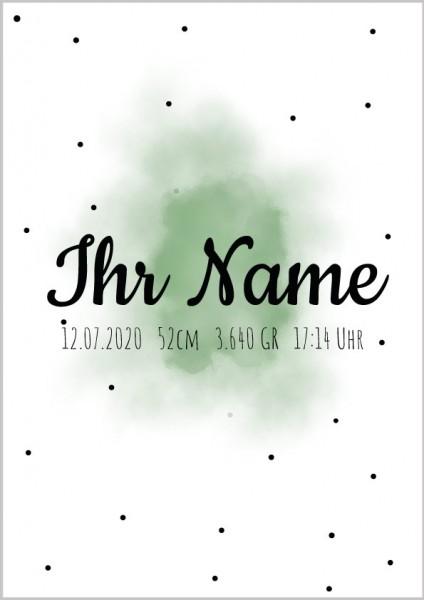 Poster Punkte Name & Geburtsdaten