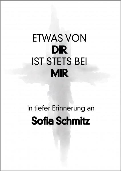 Poster Kreuz Trauer Name