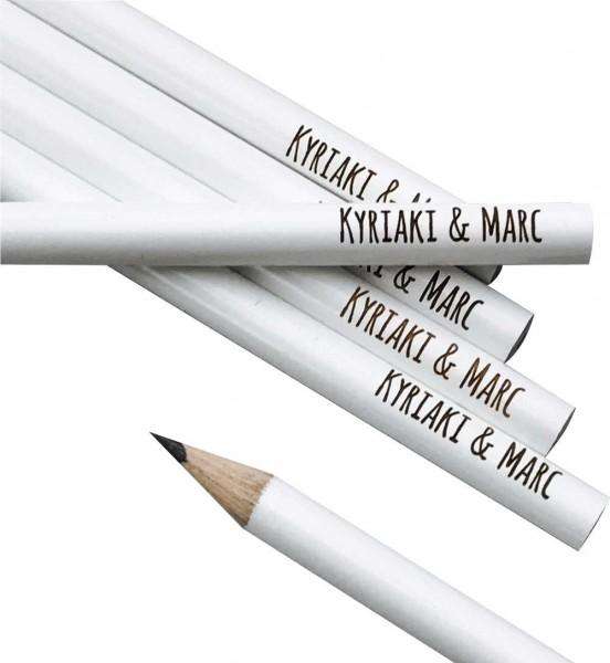Bleistift weiß Gravur personalisiert Individuell individalisiert