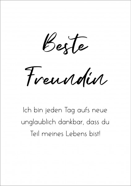 Poster Plakat Beste Freundin